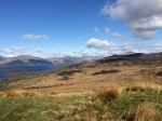 Ben Lomond is the highest peak on the right of the picture